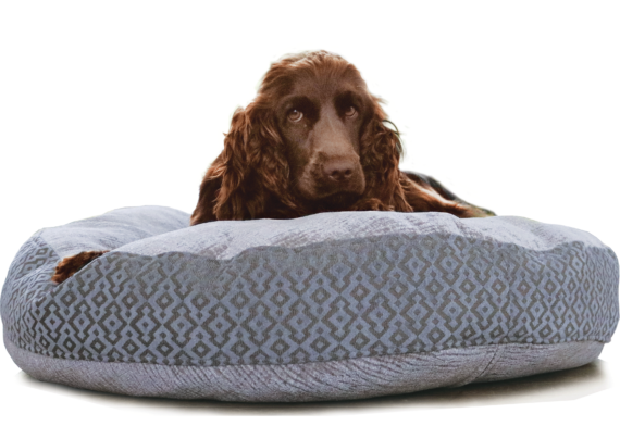 Velvet Dog Bed Large Blue Grey Luxury – Julie London