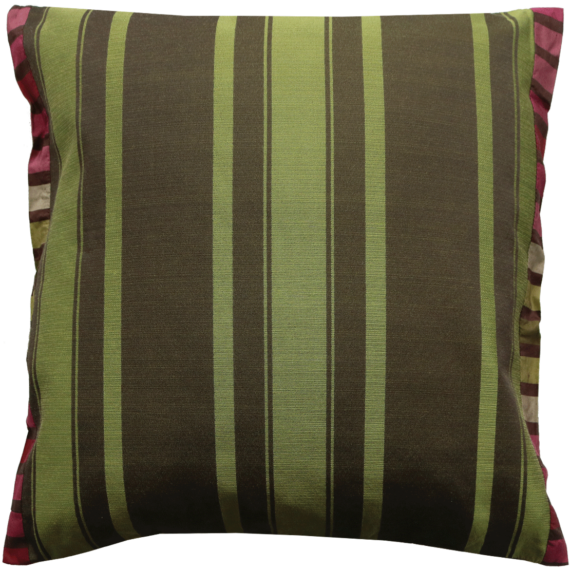 Green Silk Cushion Julie London Design Sydney back