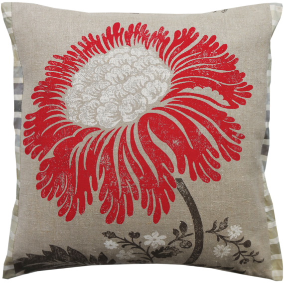 Designer Linen Cushion Julie London Design Sydney front