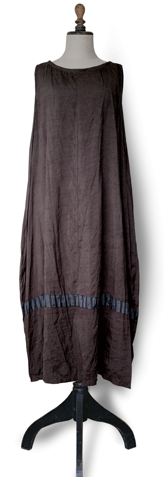 Cool Brown Silk Spring Maxi Dress front – julie London