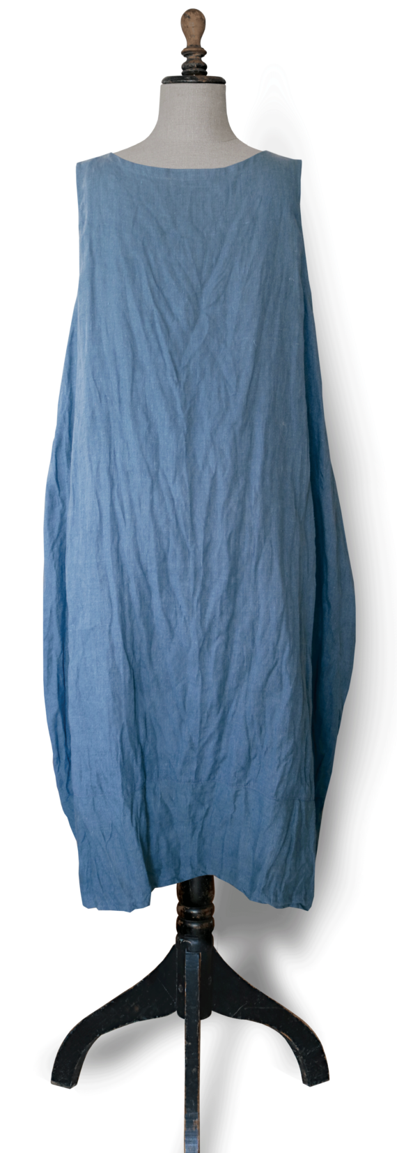 Cornflower blue linen Maxi Dress back-Julie London