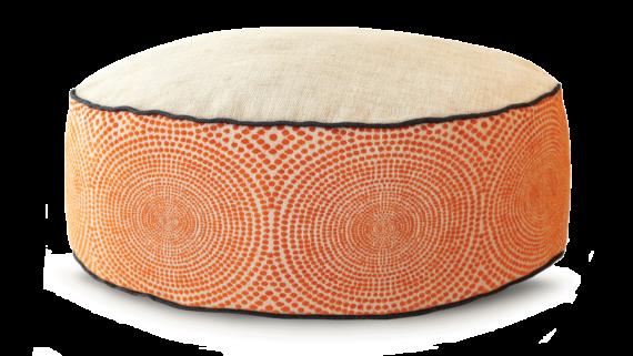 Small Dog Bed– Cream Orange Velvet – Julie London Design Sydney