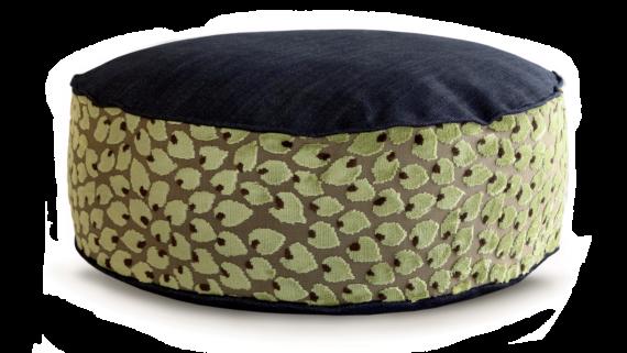 Small Dog Bed- Denim Top Velvet Leaf 2 - Julie London Design