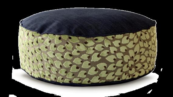 Small Dog Bed– Denim Top Velvet Leaf – Julie London Design