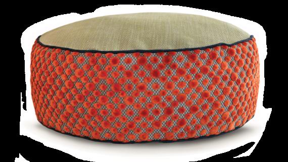 Small Dog Bed- Orange DotVelvet 2- Julie London Design Sydney