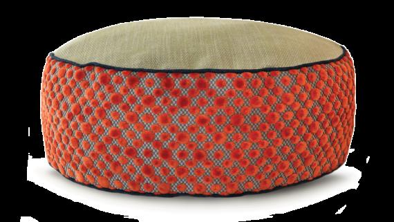 Small Dog Bed– Orange DotVelvet– Julie London Design Sydney