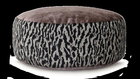 Small Dog Bed– MauveVelvet Tiger Print – Julie London