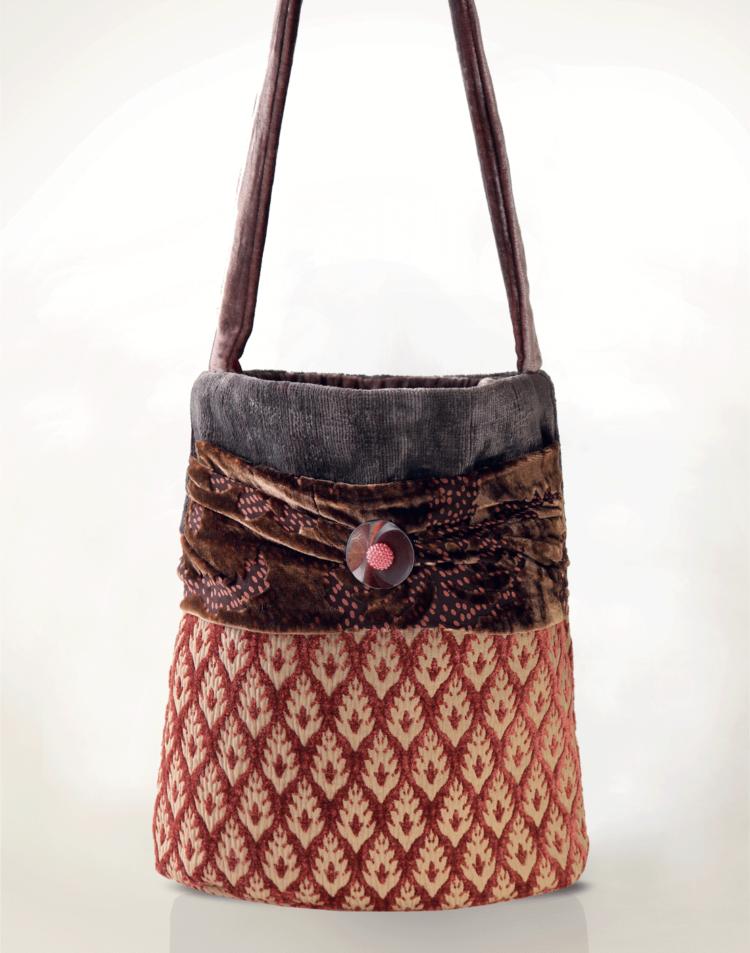 Hummingbird Handbag Velvet Peacock front - Julie London Design