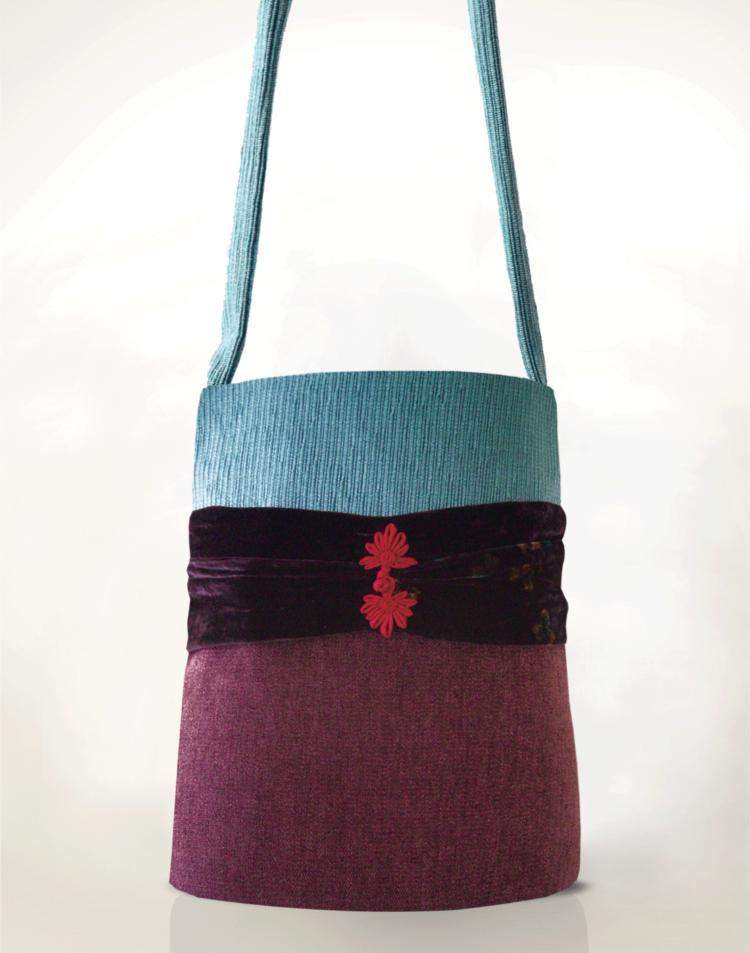 Hummingbird Handbag Velvet Toggle front - Julie London Design