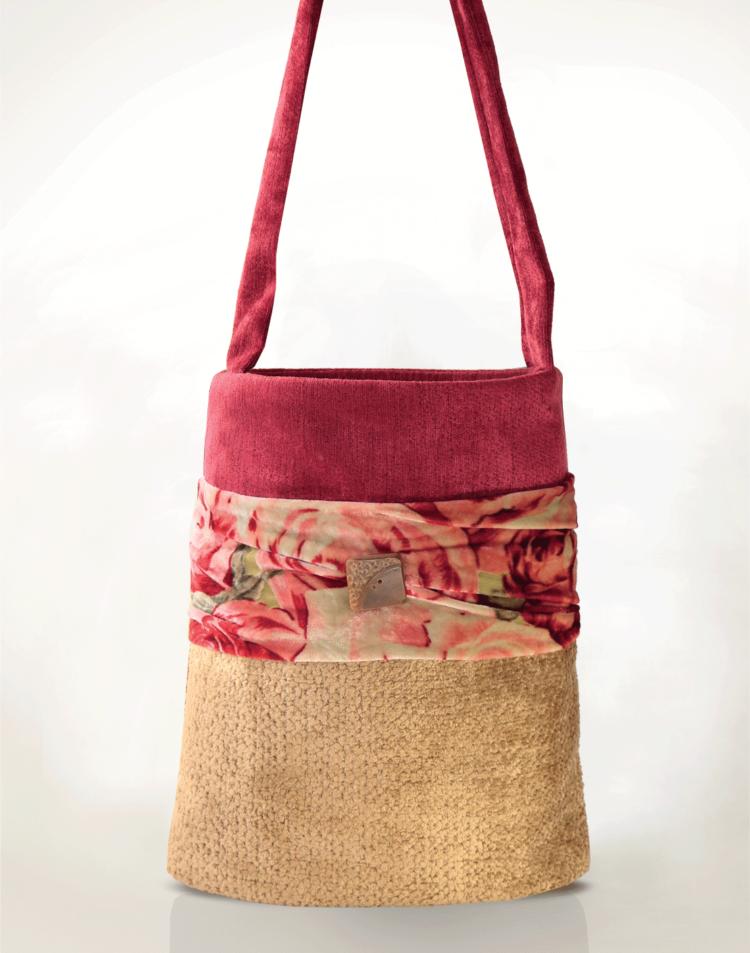 Hummingbird Handbag Velvet Caramel front - Julie London Design