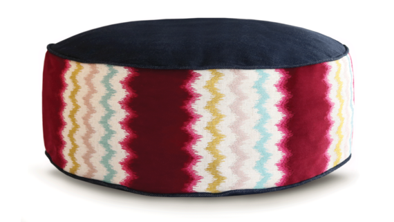 Small Dog Bed - Demin Zig Zag 2 - Julie London Design