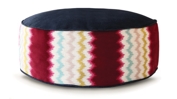 Small Dog Bed – Demin Zig Zag – Julie London Design