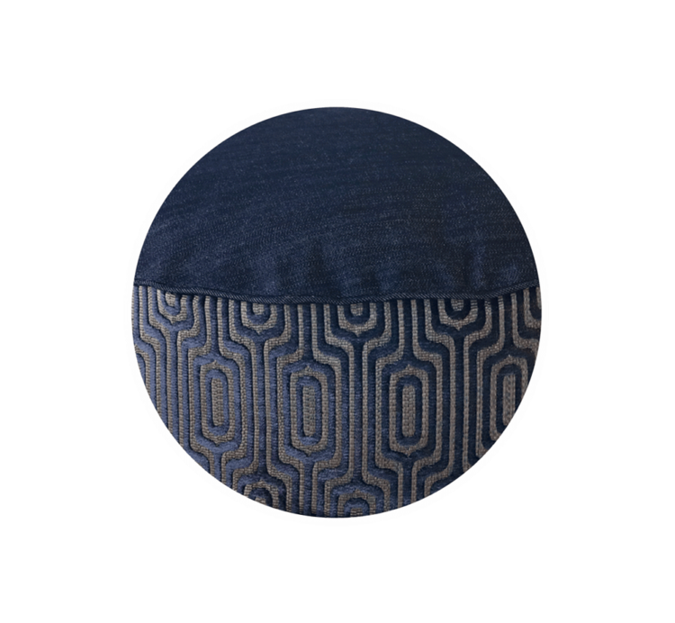 Denim Dog Bed Medium Velvet close up - Julie London Design