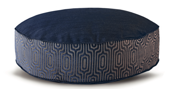 Denim Dog Bed Medium Velvet front – Julie London Design