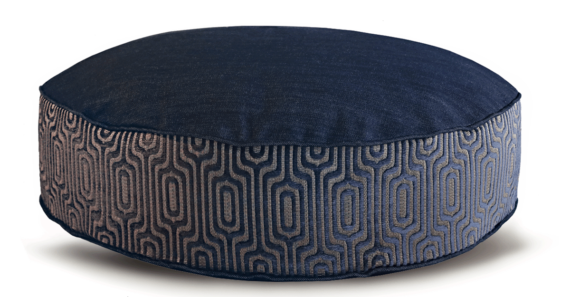 Denim Dog Bed Medium Velvet back - Julie London Design