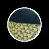 Denim Dog Bed Medium Velvet Green Leaf close up - Julie London Design