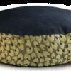 Denim Dog Bed Medium Velvet Green Leaf back - Julie London Design