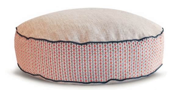 Luxury Dog Bed Medium Orange Cream back - Julie london Design