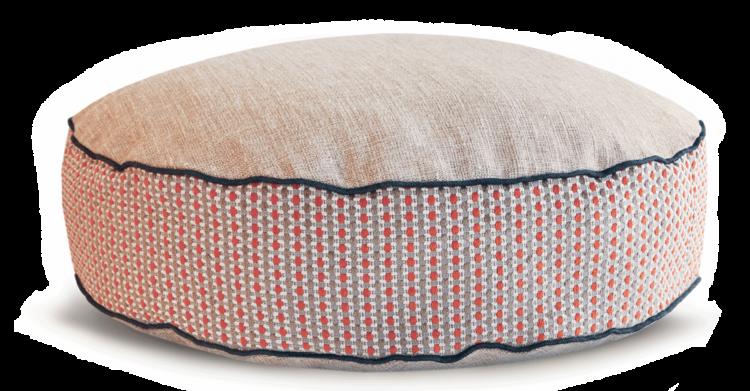 Luxury Dog Bed Medium Orange Cream back - Julie london Design