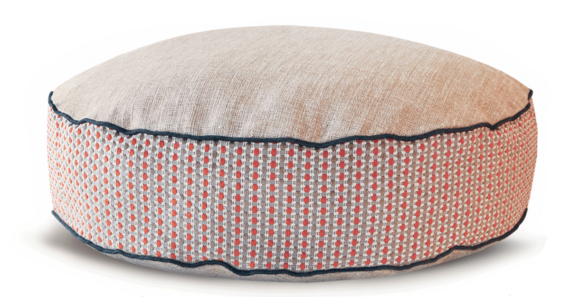 Luxury Dog Bed Medium Orange Cream front – Julie london Design