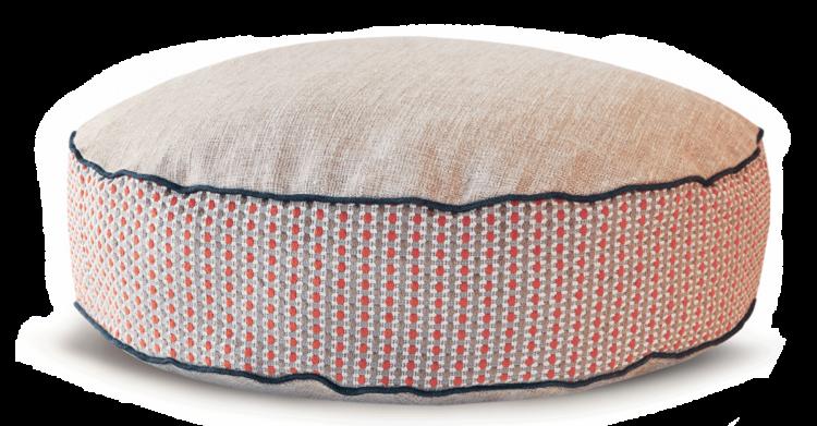 Luxury Dog Bed Medium Orange Cream front - Julie london Design