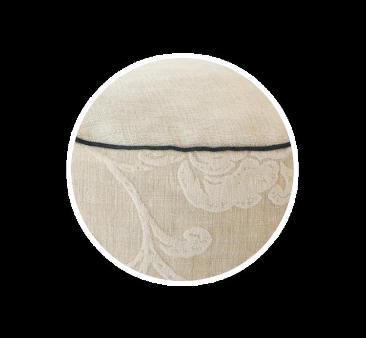 Velvet Dog Bed Medium Cosy Cream close up - Julie london Design