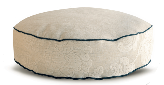 Velvet Dog Bed Medium Cosy Cream back - Julie london Design