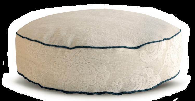 Velvet Dog Bed Medium Cosy Cream back - Julie london Design