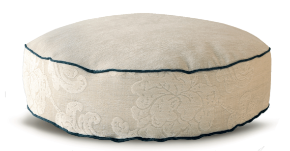 Velvet Dog Bed Medium Cosy Cream front – Julie london Design