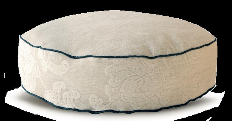 Velvet Dog Bed Medium Cosy Cream front - Julie london Design