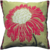 Stylish Bold Red Flower Silk Cushion front - Julie London Design Sydney front