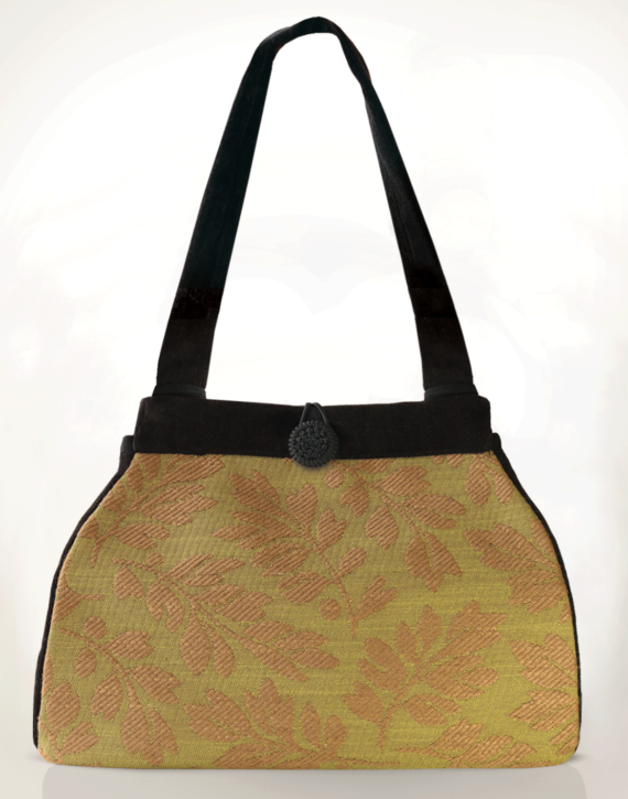 Dragonfly Medium Tote Bag Olive Fern front – julie London Design