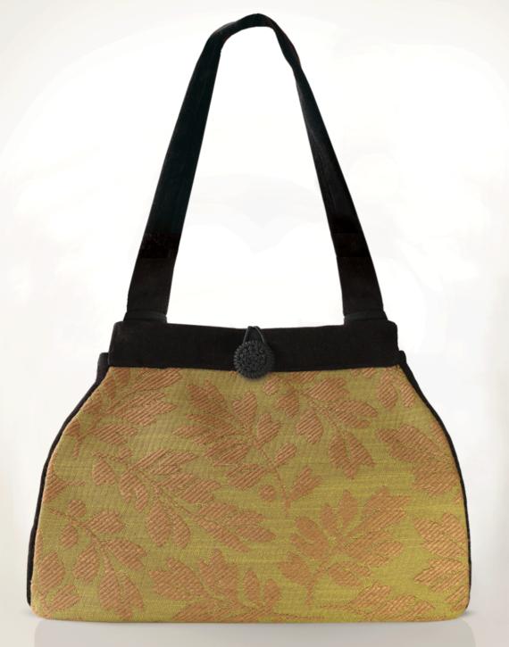 Dragonfly Medium Tote Bag Olive Fern front – julie London Design