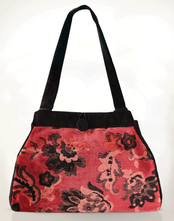 Dragonfly Medium Tote Bag Vintage Velvet front – julie London Design