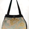 Dragonfly Medium Tote Bag Ice Blue Velvet front - julie London Design