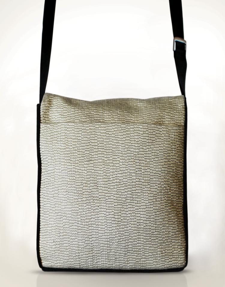 Courier PigeonSatchel Bag Panna Cotta back - Julie London Design