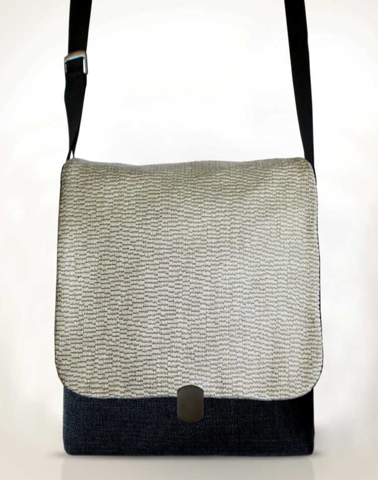Courier PigeonSatchel Bag Panna Cotta front - Julie London Design