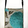 Courier PigeonSatchel Bag Turquoise Green back - Julie London Design