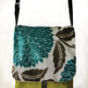 Courier PigeonSatchel Bag Turquoise Green front - Julie London Design