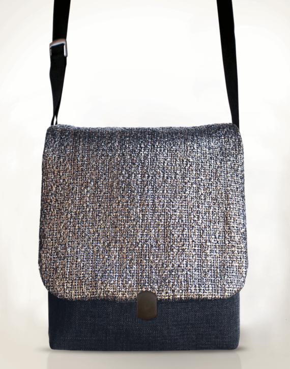 Courier Pigeon Satchel Bag – Silver front – Julie London Design
