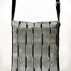 Courier PigeonSatchel Bag Velvet Sable Grey back - Julie London Design