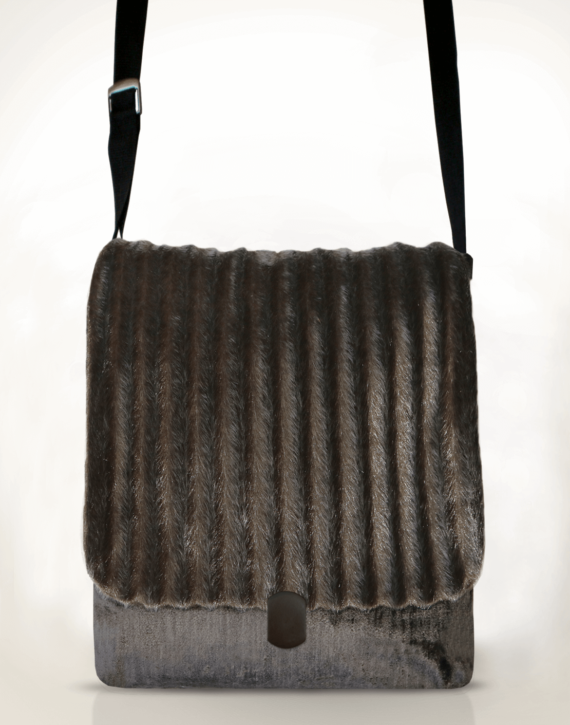 Courier Pigeon Satchel Bag Faux Fur front – Julie London Design