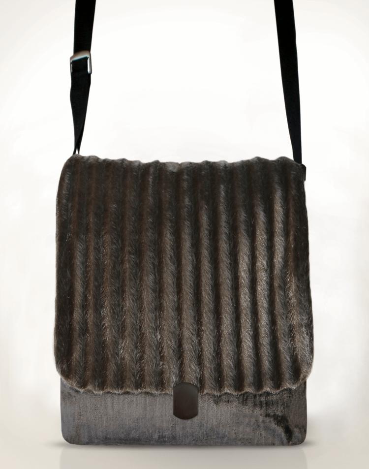 Courier PigeonSatchel BagFaux Fur front - Julie London Design