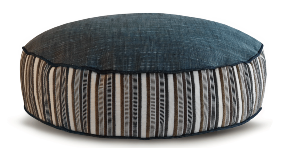 Grey White Stripped Designer Dog Bed back - Julie London