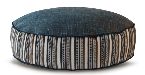 Grey White Stripped Designer Dog Bed front – Julie London