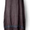 Cool Brown Silk Spring Maxi Dress front - julie London