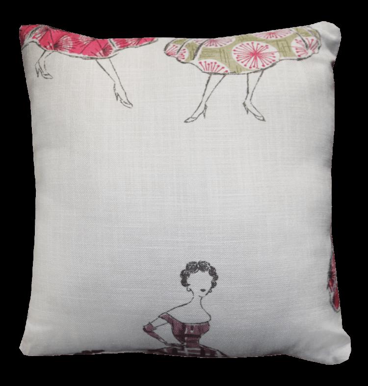 Cushion 50s Style Frocks back - julie london design