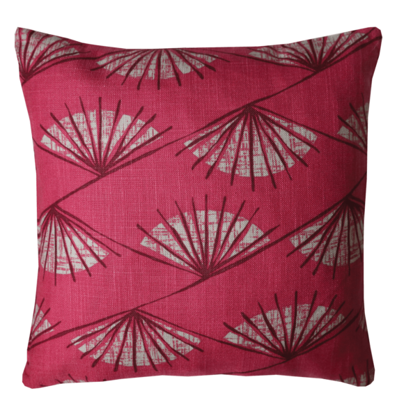 Retro 50's Style Fan Motive Cushion front – julie london