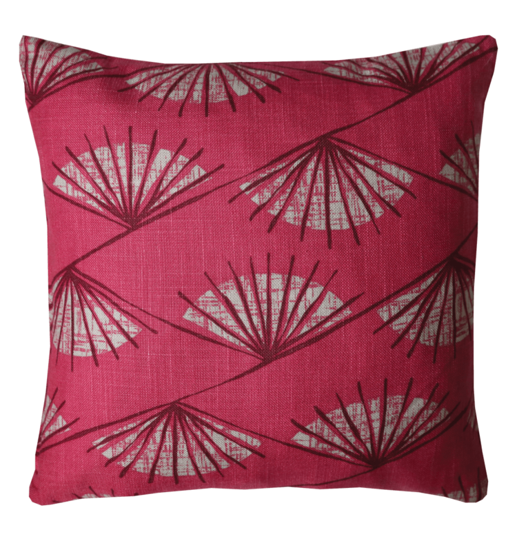 Retro 50's Style Fan Motive Cushion front - julie london