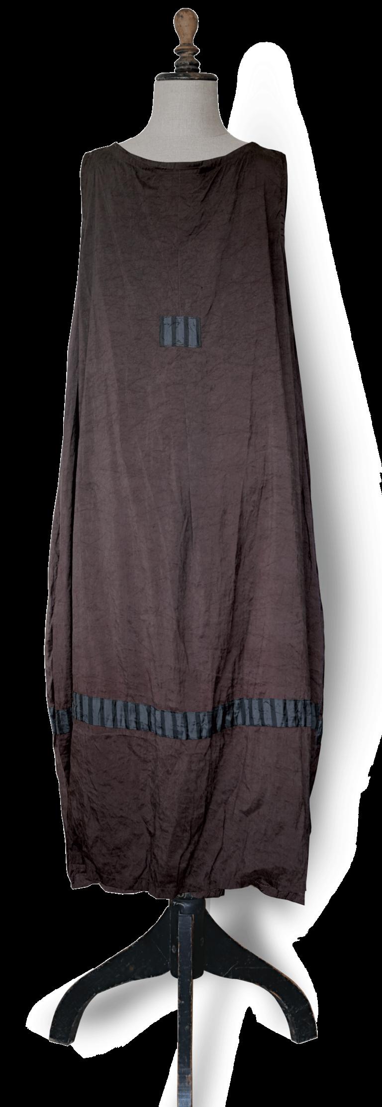 Maxi dress brown silk back - julie London